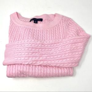 Brooks Brothers Pink Cable Knit Sweater M